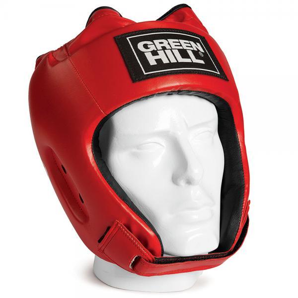 Шлем для бокса alfa , Красный Green HillБоксерские шлемы<br>Материал: Искусственная кожаВиды спорта: БоксШлем сделан из высококачественной искусственной кожи. Двойная система крепления позволит надежно зафиксировать шлем. Подходит как для тренировок, так и для соревнований. Размер:При подборе шлема следует также учесть, что размеры шлемов можно регулировать за счет специальных застежек. Для выбора шлемов, ориентируйтесь на следующие данные:охват головы - размер48-53 см - S54-56 см - М57-60 см – L61-63 см - XL<br><br>Размер: L