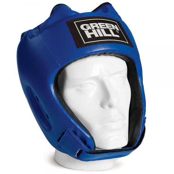 Шлем для бокса ALFA , Синий Green HillБоксерские шлемы<br>Материал: Искусственная кожаВиды спорта: БоксШлем сделан из высококачественной искусственной кожи. Двойная система крепления позволит надежно зафиксировать шлем. Подходит как для тренировок, так и для соревнований. Размер:При подборе шлема следует также учесть, что размеры шлемов можно регулировать за счет специальных застежек. Для выбора шлемов, ориентируйтесь на следующие данные:охват головы - размер48-53 см - S54-56 см - М57-60 см – L61-63 см - XL<br><br>Размер: M