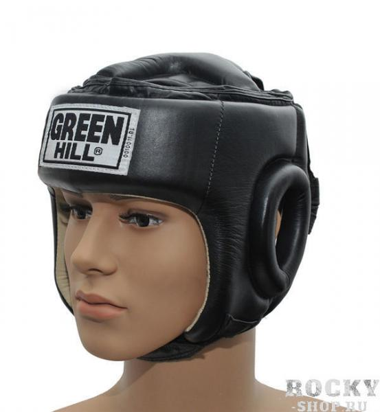 Шлем боксерский BEST, Черный Green HillБоксерские шлемы<br>Материал: Натуральная кожаВиды спорта: БоксШлем Best. Пошит из высококачественной натуральной кожи. Предназначен для тренировок и соревнований. Двойная система крепления на липучке. С защитой теменной области. Размер:При подборе шлема следует также учесть, что размеры шлемов можно регулировать за счет специальных застежек. Для выбора шлемов, ориентируйтесь на следующие данные:охват головы - размер48-53 см - S54-56 см - М57-60 см – L61-63 см - XL<br><br>Размер: S