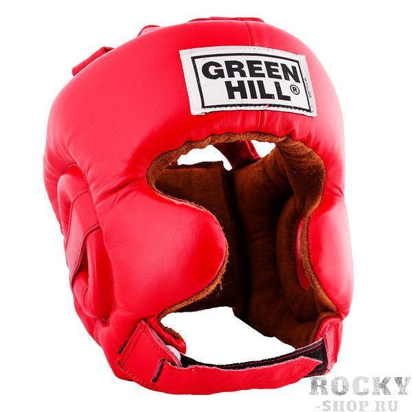Шлем боксерский defence, Красный Green HillБоксерские шлемы<br>Материал: Натуральная кожаВиды спорта: БоксШлем тренировочный Defence GREEN HILL. Сделан из натуральной кожи. Имеет двойное крепление. С усиленной защитой в области ушей и подбородка. Размер:При подборе шлема следует также учесть, что размеры шлемов можно регулировать за счет специальных застежек. Для выбора шлемов, ориентируйтесь на следующие данные:охват головы - размер48-53 см - S54-56 см - М57-60 см – L61-63 см - XL<br><br>Размер: L