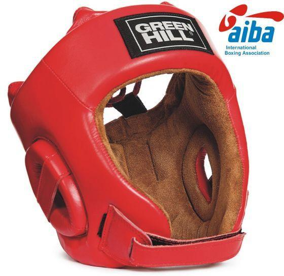 Шлем FIVE STAR с AIBA, Красный Green HillБоксерские шлемы<br>Материал: Натуральная кожаВиды спорта: БоксВысококачественная натуральная кожа. С маркой AIBA может использоваться в официальных боях. Двойная система крепления. Под подбородком на липучке<br>