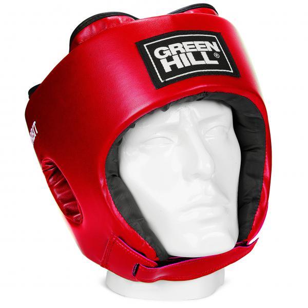 Детский боксерский шлем ORBIT, Красный Green HillБоксерские шлемы<br>Материал: Искусственная кожаВиды спорта: БоксШлем сделан из высококачественной искусственной кожи. Фиксируется сверху шнуровкой, сзади резинкой, а подбородок «липучкой». Достаточно один раз отрегулировать шлем, чтобы он удобно сидел, впоследствии просто фиксировать «липучкой». Этот шлем разработан специально для детей и подходит для разных видов единоборств.<br><br>Размер: M