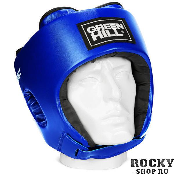 Детский боксерский шлем orbit, Синий Green HillБоксерские шлемы<br>Материал: Искусственная кожаВиды спорта: БоксШлем сделан из высококачественной искусственной кожи. Фиксируется сверху шнуровкой, сзади резинкой, а подбородок «липучкой». Достаточно один раз отрегулировать шлем, чтобы он удобно сидел, впоследствии просто фиксировать «липучкой». Этот шлем разработан специально для детей и подходит для разных видов единоборств.<br><br>Размер: M