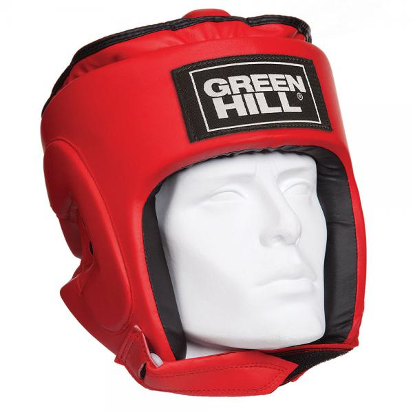 Шлем для бокса PRO, Красный Green HillБоксерские шлемы<br>Материал: Искусственная кожаВиды спорта: БоксТренировочный шлем PRO Пошит из искусственной кожи. Двойная система крепления. Защита теменной области. Размер:Для выбора шлемов, ориентируйтесь на следующие данные:охват головы - размер48-53 см - S54-56 см - М57-60 см – L61-63 см - XL<br><br>Размер: XL