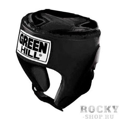 Шлем для бокса PRO, Черный Green HillБоксерские шлемы<br>Материал: Искусственная кожаВиды спорта: БоксТренировочный шлем PRO Пошит из искусственной кожи. Двойная система крепления. Защита теменной области. Размер:Для выбора шлемов, ориентируйтесь на следующие данные:охват головы - размер48-53 см - S54-56 см - М57-60 см – L61-63 см - XL<br><br>Размер: S