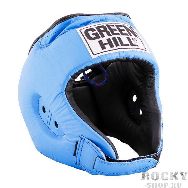 Шлем боксерский rex, Синий Green HillБоксерские шлемы<br>Материал: Натуральная кожаВиды спорта: БоксБоевой и тренировочный шлем REX Пошит из натуральной кожи, подкладка из искусственного материала. . Двойная система крепления. Для выбора шлемов, ориентируйтесь на следующие данные:охват головы - размер48-53 см - S54-56 см - М57-60 см – L61-63 см - XL<br><br>Размер: XL