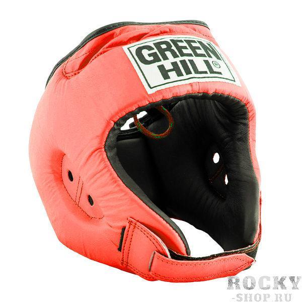Шлем боксерский REX, Красный Green HillБоксерские шлемы<br>Материал: Натуральная кожаВиды спорта: БоксБоевой и тренировочный шлем REX Пошит из натуральной кожи, подкладка из искусственного материала. . Двойная система крепления. Для выбора шлемов, ориентируйтесь на следующие данные:охват головы - размер48-53 см - S54-56 см - М57-60 см – L61-63 см - XL<br><br>Размер: S