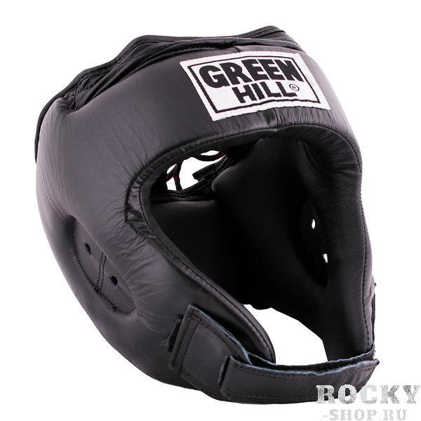 Шлем боксерский REX, Черный Green HillБоксерские шлемы<br>Материал: Натуральная кожаВиды спорта: БоксБоевой и тренировочный шлем REX Пошит из натуральной кожи, подкладка из искусственного материала. . Двойная система крепления. Для выбора шлемов, ориентируйтесь на следующие данные:охват головы - размер48-53 см - S54-56 см - М57-60 см – L61-63 см - XL<br><br>Размер: L
