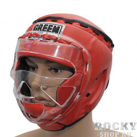 Шлем боксерский закрытый RING, Красный Green HillБоксерские шлемы<br>Материал: Натуральная кожаВиды спорта: БоксТренировочный закрытый боксерский шлем. Сделан из высококачественной натуральной кожи. Усиленная защита в области ушей, скул и подбородка. Дополнительную защиту обеспечивает маска из прочного пластика, а защита сверху шлема убережет голову от ударов ногами. Шлем фиксируется «липучкой». Обеспечивает лучшую защиту из всех существующих моделей. К соревнованиям вас не допустят выступать в таком шлеме, но на тренировках он максимально защитит вас и убережет от повреждений. Размер:При подборе шлема следует также учесть, что размеры шлемов можно регулировать за счет специальных застежек. Для выбора шлемов, ориентируйтесь на следующие данные:охват головы - размер48-53 см - S54-56 см - М57-60 см – L61-63 см - XL<br><br>Размер: M