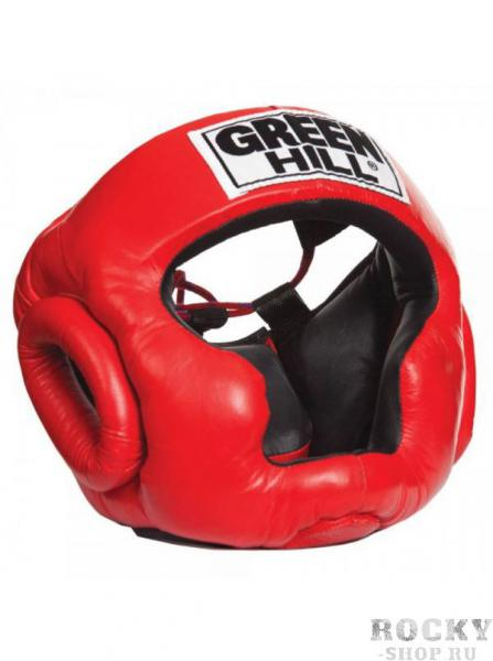 Шлем боксерский SUPER, Красный Green HillБоксерские шлемы<br>Материал: Натуральная кожаВиды спорта: БоксТренировочный шлем. Сделан из высококачественной натуральной кожи. Усиленная защита в области ушей, и подбородка. .Размер:При подборе шлема следует также учесть, что размеры шлемов можно регулировать за счет специальных застежек.Для выбора шлемов, ориентируйтесь на следующие данные:охват головы - размер48-53 см - S54-56 см - М57-60 см – L61-63 см - XL<br>