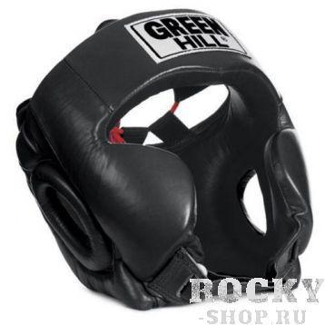 Шлем боксерский CLUB без подбородка, Черный Green HillБоксерские шлемы<br>Материал: Натуральная кожаВиды спорта: БоксТренировочный шлем. Сделан из высококачественной натуральной кожи. Усиленная защита в области ушей, и подбородка. .Размер:При подборе шлема следует также учесть, что размеры шлемов можно регулировать за счет специальных застежек.Для выбора шлемов, ориентируйтесь на следующие данные:охват головы - размер48-53 см - S54-56 см - М57-60 см &amp;ndash; L61-63 см - XL<br>