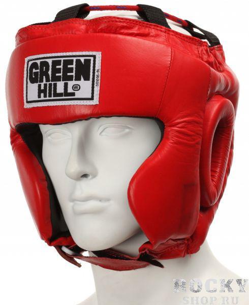 Шлем боксерский CLUB без подбородка, Красный Green HillБоксерские шлемы<br>Материал: Натуральная кожаВиды спорта: БоксТренировочный шлем. Сделан из высококачественной натуральной кожи. Усиленная защита в области ушей, и подбородка. . Размер:При подборе шлема следует также учесть, что размеры шлемов можно регулировать за счет специальных застежек. Для выбора шлемов, ориентируйтесь на следующие данные:охват головы - размер48-53 см - S54-56 см - М57-60 см &amp;ndash; L61-63 см - XL<br><br>Размер: L