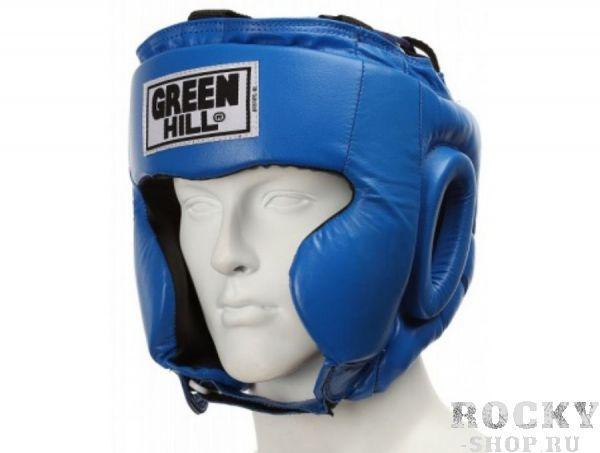 Шлем боксерский CLUB без подбородка, Синий Green HillБоксерские шлемы<br>Материал: Натуральная кожаВиды спорта: БоксТренировочный шлем. Сделан из высококачественной натуральной кожи. Усиленная защита в области ушей, и подбородка. . Размер:При подборе шлема следует также учесть, что размеры шлемов можно регулировать за счет специальных застежек. Для выбора шлемов, ориентируйтесь на следующие данные:охват головы - размер48-53 см - S54-56 см - М57-60 см – L61-63 см - XL<br><br>Размер: M