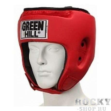 Шлем боксерский special, Красный Green HillБоксерские шлемы<br>Материал: Искусственная кожаВиды спорта: БоксТренировочный шлем. Сделан из высококачественной искусственной кожи. двойная система крепления. Размер:При подборе шлема следует также учесть, что размеры шлемов можно регулировать за счет специальных застежек. Для выбора шлемов, ориентируйтесь на следующие данные:охват головы - размер48-53 см - S54-56 см - М57-60 см – L61-63 см - XL<br><br>Размер: L