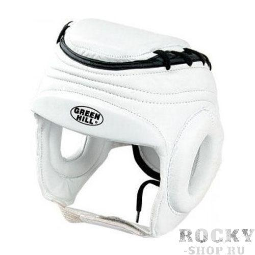 Шлем TAEKWONDO, Белый Green HillЭкипировка для Тхэквондо<br>Материал: Искусственная кожаВиды спорта: ТаэквондоШлем Taekwondo, для таэквондо, верх из синтетической кожи. Крепиться на липучке. Защищенная верхняя часть головы. Для выбора шлемов, ориентируйтесь на следующие данные:охват головы - размер48-53 см - S54-56 см - М57-60 см – L61-63 см - XL<br><br>Размер: L