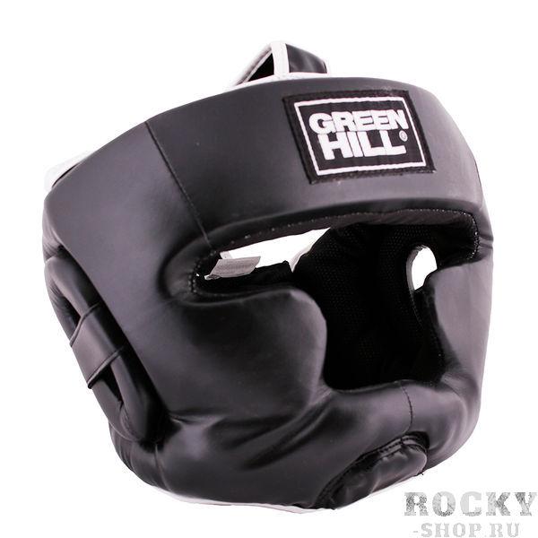 Шлем для бокса WARRIOR, Черный Green HillБоксерские шлемы<br>Материал: Искусственная кожаВиды спорта: БоксШлем пошит из искусственной кожи. Предназначен для тренировок и соревнований. Двойная система крепления на липучке. С защитой теменной области, скул и подбородка. Размер:При подборе шлема следует также учесть, что размеры шлемов можно регулировать за счет специальных застежек. Для выбора шлемов, ориентируйтесь на следующие данные:охват головы - размер48-53 см - S54-56 см - М57-60 см – L61-63 см - XL<br><br>Размер: L