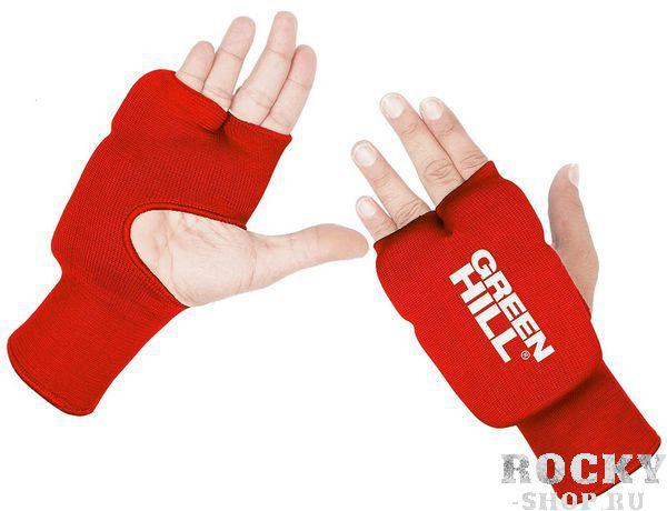 Защита на кисть, Красный Green HillЗащита тела<br>Материал: Хлопок - ПолиэстерВиды спорта: КаратэЗащита на кисть хлопок/эластик<br>