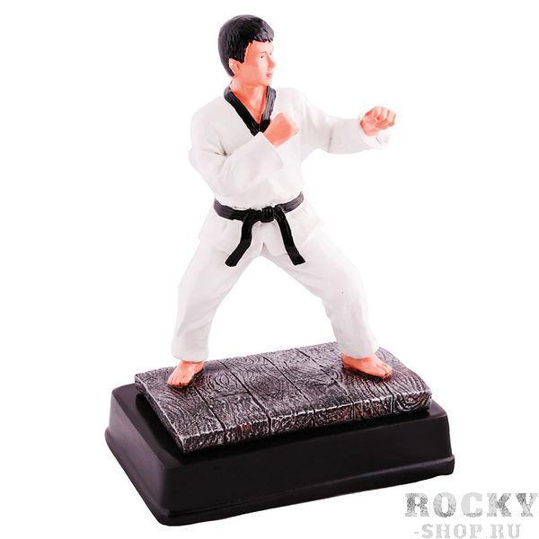 Статуэтка таэквондист в белом кимоно с черным поясом, 12*7*18см Green HillСувенирная продукция<br>Статуэтка таэквондист в белом кимоно с черным поясом, 12*7*18см<br>