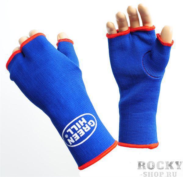 Защита на кисть+ палец эластичная, Синий Green HillЗащита тела<br>Материал: Эластик - ХлопокВиды спорта: Каратэ, Таэквондо, Самбо, Рукопашный бой, Дзюдо, Джиу-джитсу, БорьбаМедецинская защита на кисть с пальцем.Материал:Хлопок/эластик.Длина 17,5см,ширина в верхней части11,5см,ширина в нижней части 10см.в не растянутом состоянии,растягивается до 40%.<br>