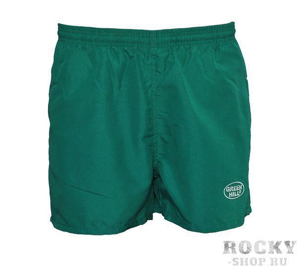Шорты для дзюдо, Зеленый Green HillЭкипировка для Дзюдо<br>Материал: ПолиэстерВиды спорта: ДзюдоШорты Green Hill. Материал: полиэстер.<br><br>Размер: L