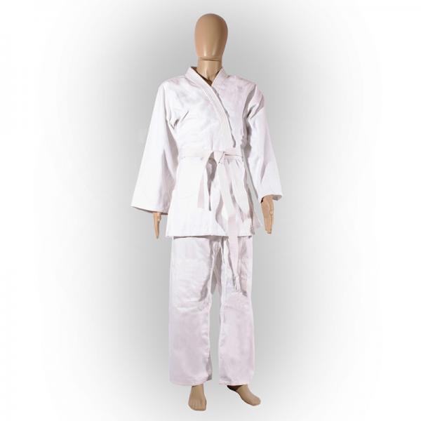 Кимоно для дзюдо ADULT, 200 Green HillЭкипировка для Дзюдо<br>Материал: ХлопокВиды спорта: ДзюдоКимоно специально разработано для тренировок юношей. Изготовлено из лёгкой плетёной хлопковой ткани плотностью 320 г/м. Хороший вариант для тренировок в айкидо и джиу-джитсу, на начальном этапе занятий дзюдо. Куртка усилена двойными швами на плечах, рукавах и груди. Места, подверженные наиболее интенсивному воздействию (лацканы, колени, проймы, боковой разрез) усилены специальными вставками; цельнокроеный рукав; шва на спине нет. Брюки с усилением колена пошиты из хлопковой ткани плотностью 250 г/м, крепление на поясе — широкая вшитая резинка и шнур. От 160 см — только шнур. Кимоно соответствует стандартам 2015 года и наилучшим образом подходит стройным худощавым борцам.<br><br>Цвет: Белый