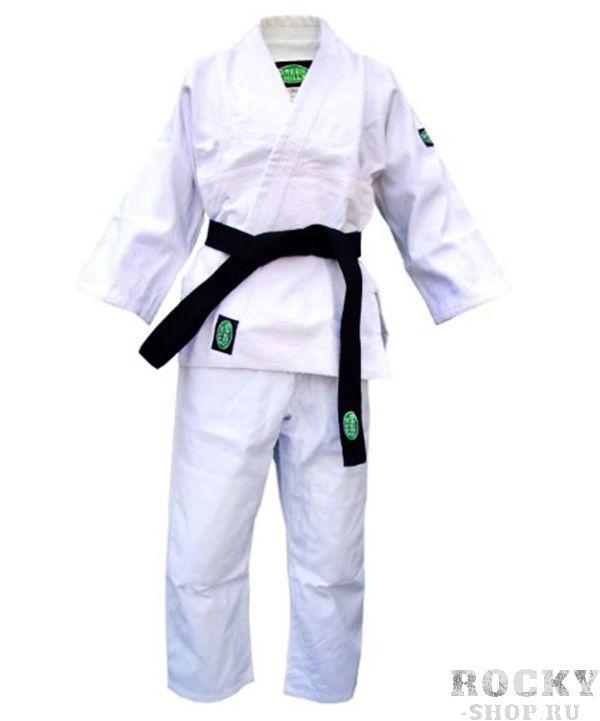 Кимоно для дзюдо green hill club, 140 см Green HillЭкипировка для Дзюдо<br>Материал: ХлопокВиды спорта: ДзюдоКимоно предназначено для использования на интенсивных тренировках, начинающих спортсменов. Материал: 100% хлопок. Куртка усилена двойными швами на плечах, рукавах и груди. пояс включен в комплект. Плотность ткани: 500мг/см3.<br><br>Цвет: Белый