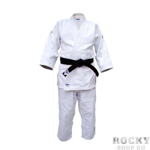 Кимоно для дзюдо OLIMPIC (одобрено IJF 2011), 190 Green HillЭкипировка для Дзюдо<br>Материал: ХлопокВиды спорта: ДзюдоКимоно дзюдо. Материал: 100% хлопок. Одобрено международной федерацией дзюдо IJF. Кимоно предназначено для использования на соревнованиях высшего уровня. Конструктивная особенность нити делает материал, из которого пошито кимоно, чрезвычайно крепким, почти не поддающимся усадке после стирки (+-2%). Кимоно также усилено двойными швами на плечах, рукавах и груди. Толщина воротника- 1 см, ширина воротника- 4-5 см. Плотность ткани: 950гр. /м2.<br><br>Цвет: Белый