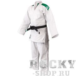 Кимоно для дзюдо OLIMPIC (модель 2014), 170 Green HillЭкипировка для Дзюдо<br>Материал: ХлопокВиды спорта: ДзюдоКимоно дзюдо Olympic. Материал: 100% хлопок. Кимоно предназначено для использования в профиссиональных тренировках.Конструктивная особенность нити делает материал, из которого пошито кимоно, чрезвычайно крепким, почти не поддающимся усадке после стирки (+-2%). Кимоно также усилено двойными швами на плечах, рукавах и груди. Толщина воротника- 1 см, ширина воротника- 4-5 см. Плотность ткани: 950гр./м2.<br>