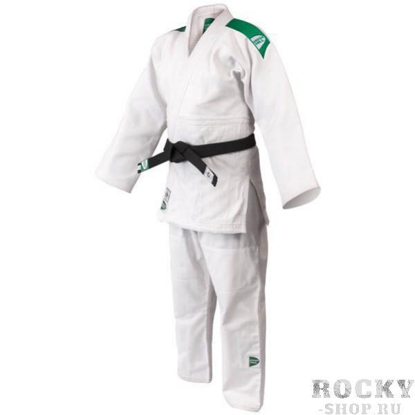 Кимоно для дзюдо OLIMPIC (модель 2014), 150 Green HillЭкипировка для Дзюдо<br>Материал: ХлопокВиды спорта: ДзюдоКимоно дзюдо Olympic. Материал: 100% хлопок. Кимоно предназначено для использования в профиссиональных тренировках.Конструктивная особенность нити делает материал, из которого пошито кимоно, чрезвычайно крепким, почти не поддающимся усадке после стирки (+-2%). Кимоно также усилено двойными швами на плечах, рукавах и груди. Толщина воротника- 1 см, ширина воротника- 4-5 см. Плотность ткани: 950гр./м2.<br>