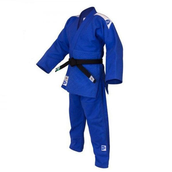 Кимоно для дзюдо OLIMPIC (модель 2014), 200 Green HillЭкипировка для Дзюдо<br>Материал: ХлопокВиды спорта: ДзюдоКимоно дзюдо Olympic. Материал: 100% хлопок. Кимоно предназначено для использования в профиссиональных тренировках. Конструктивная особенность нити делает материал, из которого пошито кимоно, черезвычайно крепким, почти не поддающимся усадке после стирки (+-2%). Кимоно также усилено двойными швами на плечах, рукавах и груди. Толщина воротника- 1 см, ширина воротника- 4-5 см. Плотность ткани: 950гр. /м2.<br><br>Цвет: Синий