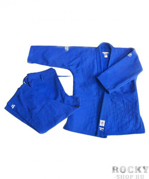 Кимоно для дзюдо OLIMPIC, 180 Green HillЭкипировка для Дзюдо<br>Материал: ХлопокВиды спорта: ДзюдоМатериал: 100% хлопок. Кимоно предназначено для использования на тренировках и соревнованиях. Конструктивная особенность нити делает материал, из которого пошито кимоно, чрезвычайно крепким, почти не поддающимся усадке после стирки (+-2%). Кимоно также усилено двойными швами на плечах, рукавах и груди. Толщина воротника- 1 см, ширина воротника- 4-5 см. Плотность ткани: 950гр. /м2.<br><br>Цвет: Синий