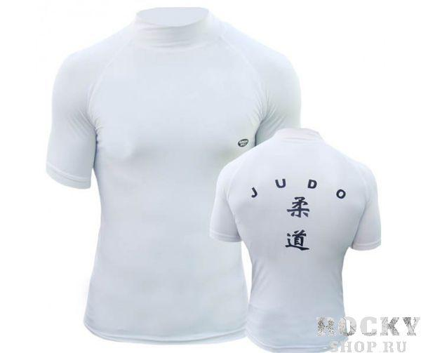 Футболка под кимоно, Белый Green HillЭкипировка для Дзюдо<br>Материал: Лайкра - ПолиэстерВиды спорта: ДзюдоЗащитная футболка с логотипом дзюдо. Материал: полиэстер/лайкра.<br><br>Размер: L