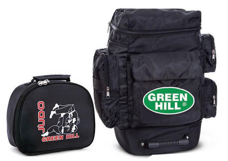 Рюкзак дзюдо Green Hill , трансформер, 45см/39см/20см Green HillСпортивные сумки и рюкзаки<br>Рюкзак-трансформер- это вместительный, удобный рюкзак, располагающий большим внутренним пространством и множеством дополнительных отделений, способный складываться в компактную сумку, занимающую минимум пространства при хранении. Изготовлен из легкого прочного и непромокаемого материала(полиэстер). Цвет: черный. Размер: 45см/39см/20см.<br><br>Цвет: Черный