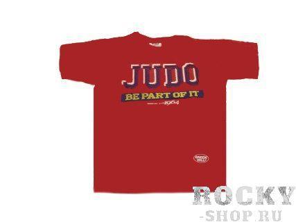 Футболка JUDO, Красный Green HillЭкипировка для Дзюдо<br>Материал: ХлопокВиды спорта: ДзюдоФутболка 100% хлопок.<br><br>Размер: XL