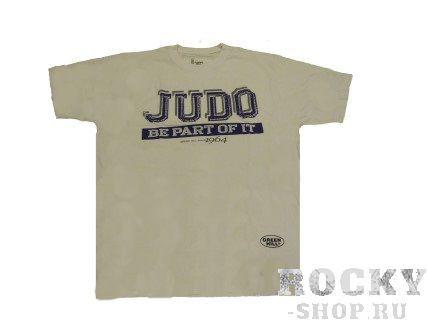 Футболка judo, Белый Green HillЭкипировка для Дзюдо<br>Материал: ХлопокВиды спорта: ДзюдоФутболка 100% хлопок.<br><br>Размер: L