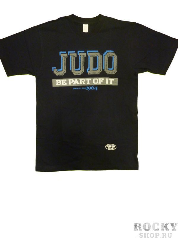 Футболка JUDO, Синий Green HillЭкипировка для Дзюдо<br>Материал: ХлопокВиды спорта: ДзюдоФутболка 100% хлопок.<br><br>Размер: L