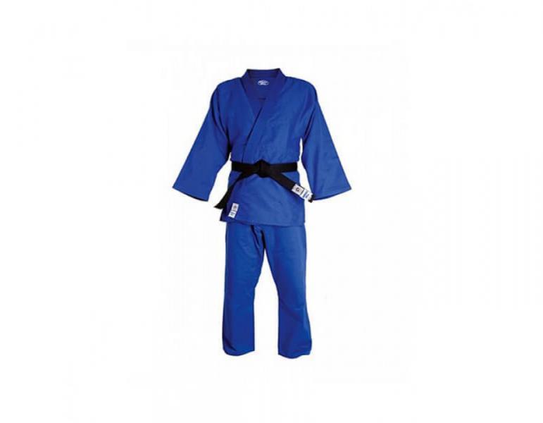 Кимоно для дзюдо olimpic, 200 Green HillЭкипировка для Дзюдо<br>Материал: ХлопокВиды спорта: ДзюдоМатериал: 100% хлопок. Кимоно предназначено для использования на тренировках и соревнованиях. Конструктивная особенность нити делает материал, из которого пошито кимоно, чрезвычайно крепким, почти не поддающимся усадке после стирки (+-2%). Кимоно также усилено двойными швами на плечах, рукавах и груди. Толщина воротника- 1 см, ширина воротника- 4-5 см. Плотность ткани: 950гр. /м2.<br><br>Цвет: Синий