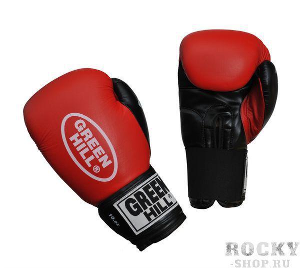 Перчатки для бокса fighter, 10 oz  Green HillБоксерские перчатки<br>Боксерские перчатки Green Hill FIGHTER - отличный выбор для начинающих спортсменов. Сделаны из комбинированной кожи : ударная часть кожа, ладонь иск. кожа. Манжет на липучке позволяет быстро снимать и одевать перчатки. Лучше всего эту модель использовать на тренировках.<br><br>Цвет: Синие