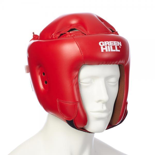 Шлем для бокса BRAVE, Красный Green HillБоксерские шлемы<br>Материал: Искусственная кожаВиды спорта: БоксШлем для бокса и кикбоксинга. Верх из искусственной кожи. Регулируемый обхват головы. Крепление сзади на резинке и липучке. Подкладка- искусственная замша. Размер:При подборе шлема следует также учесть, что размеры шлемов можно регулировать за счет специальных застежек. Для выбора шлемов, ориентируйтесь на следующие данные:охват головы - размер48-53 см - S54-56 см - М57-60 см – L61-63 см - XL<br><br>Размер: S