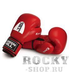 Перчатки боксерские KNOCK, 12oz  Green HillБоксерские перчатки<br>Перчатки тренировочные для бокса и кикбоксинга Knock. Сделаны из натуральной кожи. Многослойное наполнение высокотехнологичными материалами, обеспечивают максимальное удобство. Манжета на липучке позволят быстро снимать и надевать перчатки. Оптимальный выбор для тренировок.<br><br>Цвет: Красный