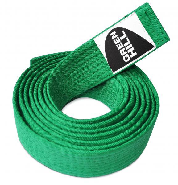 Пояс для каратэ, Зеленый Green HillЭкипировка для Каратэ<br>Материал: ХлопокВиды спорта: КаратэПояс для кимоно. Материал: 100% хлопок.<br><br>Размер: 280см
