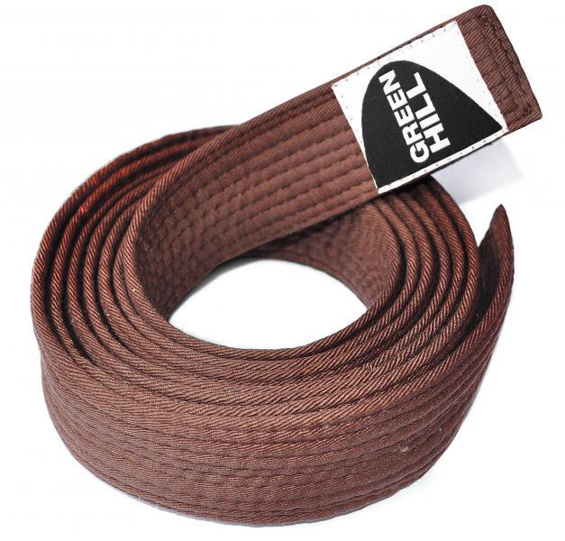 Купить Пояс для каратэ Green Hill коричневый (арт. 9718)
