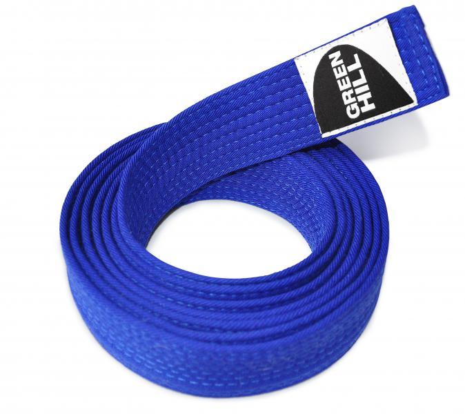 Пояс для каратэ, Синий Green HillЭкипировка для Каратэ<br>Материал: ХлопокВиды спорта: КаратэПояс для кимоно. Материал: 100% хлопок.<br><br>Размер: 240см