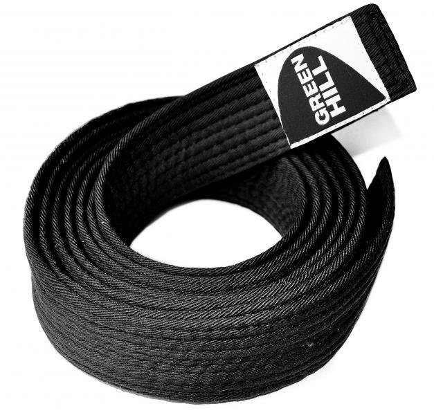 Пояс для каратэ, Черный Green HillЭкипировка для Каратэ<br>Материал: ХлопокВиды спорта: КаратэПояс для кимоно. Материал: 100% хлопок.<br><br>Размер: 5/280