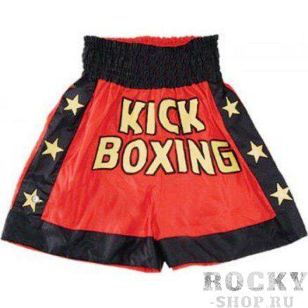 Трусы KICK-BOXING, Красный Green HillШорты для тайского бокса/кикбоксинга<br>Шорты для кикбоксинга Club. Пояс на резинке. 100% атлас/полиэстер<br><br>Размер INT: S