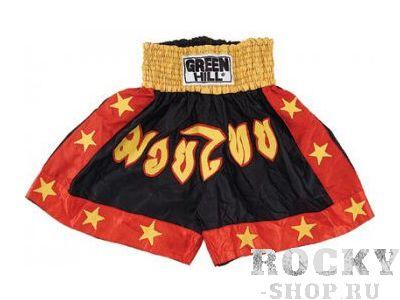 Шорты для тайского бокса, Черный Green HillШорты для тайского бокса/кикбоксинга<br>Шорты для тайского бокса/кикбоксинга. Материал: полиэстер/атлас.<br>