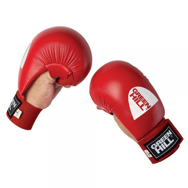 Накладки каратэ cobra, Красный Green HillЭкипировка для Каратэ<br>Накладки для каратэ Green Hill Cobra, сделаны из искусственной кожи, имеют пенополиуретановый защитный наполнитель, отлично амортизирующий удары, защищая как самого бойца, так и его соперника от ушибов и других травм, делая учебные тренировки наименее травмоопасными. Накладки имеют надежную систему крепления и не слетят во время боя.<br><br>Размер: XS