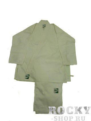 Кимоно Каратэ ADULT, 3/160 см, 160 Green HillЭкипировка для Каратэ<br>Материал: ХлопокВиды спорта: КаратэКимоно для каратэ Green Hill Adult состоит из рубашки и брюк. Просторная рубашка с запахом, боковыми разрезами и длинными рукавами-кимоно изготовлена из плотного хлопка. Боковые швы, края рукавов и полочек, низ рубашки укреплены дополнительными строчками и крепкой лентой с внутренней стороны. Рубашка завязывается на специальные завязки. Просторные брюки особого покроя имеют широкую эластичную резинку на талии, обеспечивающую комфортную посадку. Изделия оформлены нашивками с логотипом бренда. Кимоно рекомендуется для тренировок в зале. Инструкция по уходу: стирка при температуре до 30°С, не отбеливать, гладить при средней температуре (до 150°С), не подвергать химчистке, не отжимать на центрифуге<br>