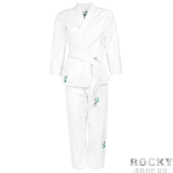 Кимоно Каратэ BEGINER, 130 Green HillЭкипировка для Каратэ<br>Материал: ХлопокВиды спорта: КаратэКимоно для карате Green Hill Beginner — отличный вариант для начинающих спортсменов. Состоит из куртки и брюк, размер подбирают по росту. Плотность ткани — 200 г/кв. м<br><br>Цвет: Белый