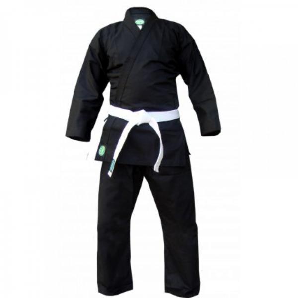 Кимоно для каратэ Green Hill club, черное, 160 см Green HillЭкипировка для Каратэ<br>Материал: ХлопокВиды спорта: КаратэКимоно для занятий карате Club. Материал: 100% хлопок, с поясом. Предназначено для тренировок.<br><br>Цвет: Черный